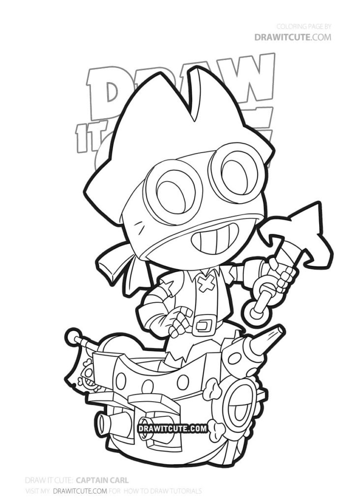 Captain Carl Brawl Stars Coloring Page Draw It Cute Brawlstars Coloringpages Star Coloring Pages Coloring Pages Drawings