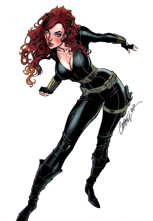 A R C H I V E Black Widow Marvel Scott Campbell J Scott Campbell