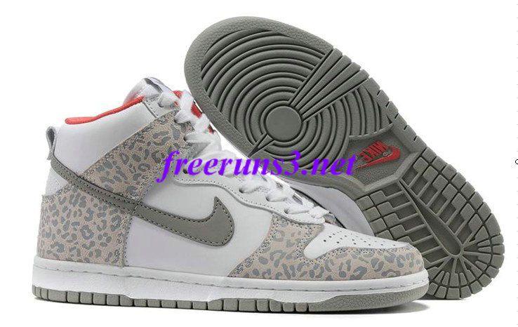 qND7lR Womens Nike Dunk High Skinny Leopard Pack White Medium Grey Sunburst  Casual Shoes