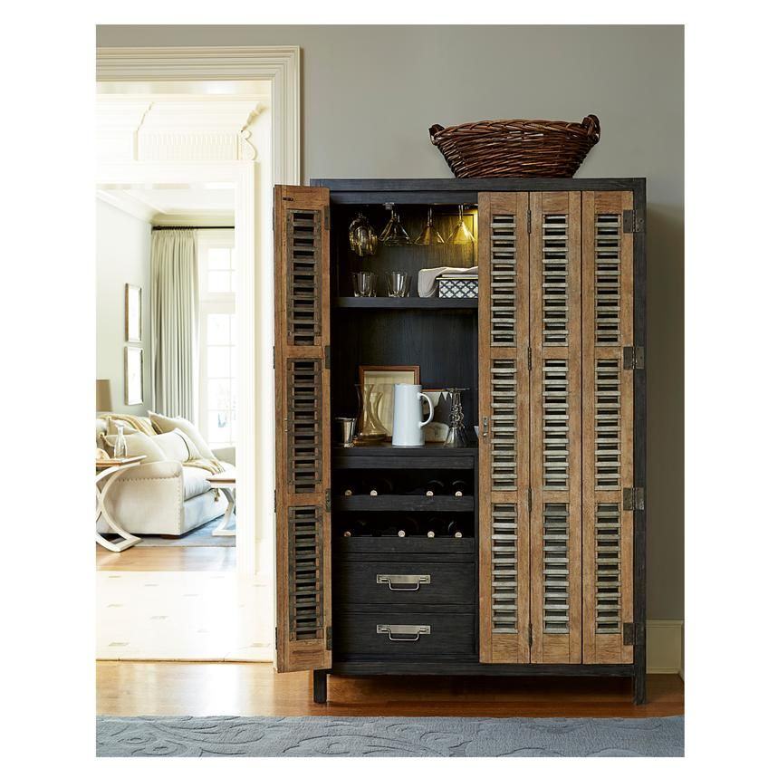 Modern Muse Bar Home Cabinet French Industrial