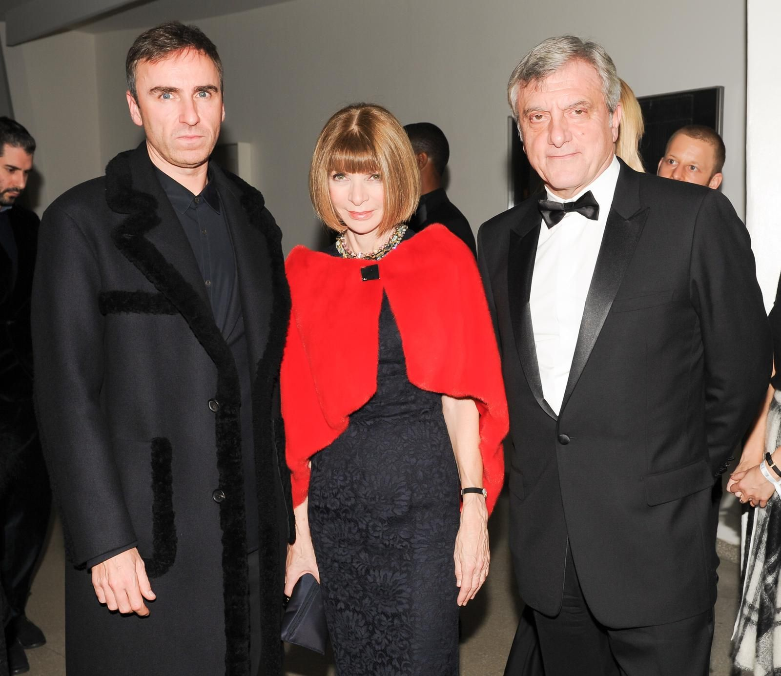 Guggenheim: Raf Simons, Anna Wintour and Sidney Toledano at the gala dinner