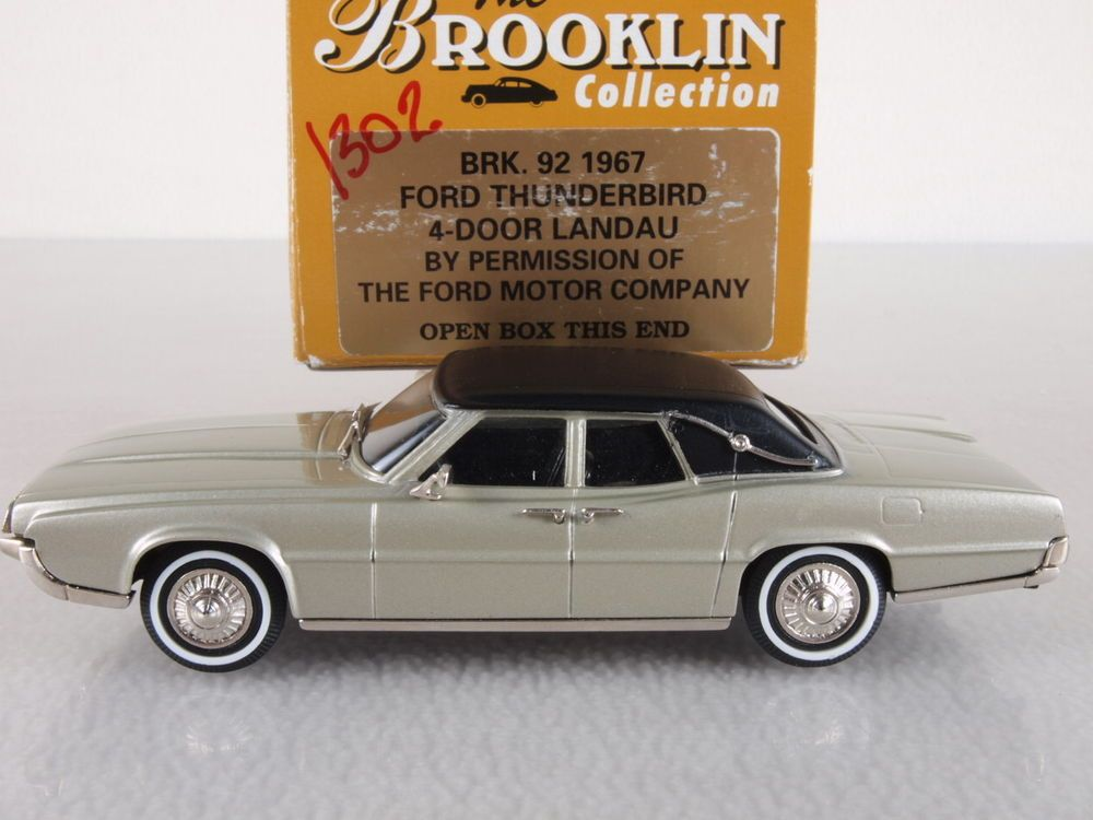 Brooklin 92 1 43 Scale 1967 Ford Thunderbird 4 Door Landau Small