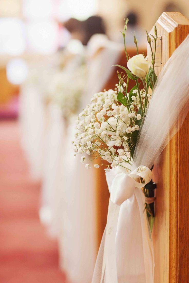 Unique church wedding decoration ideas  Qué te parece esta idea para la decoración de la iglesia Deco