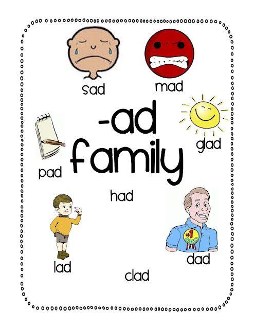 Ad' CVC Word Family Worksheet | Cvc word families