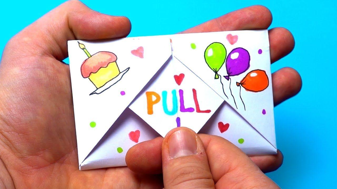 DIY Pull Tab Origami Envelope Card  Letter Folding Origami