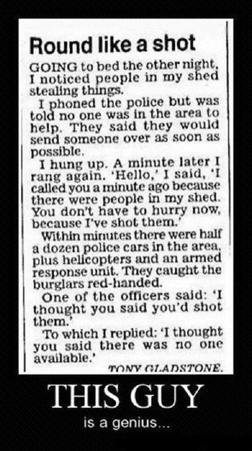 """...I'd never do this... could be pulling police away from something else maybe more dire... but it's funny as a """"story"""""""