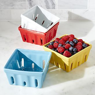 Berry Box White Colander