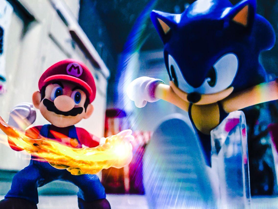 Sonic Vs Mario Amiibo Sonic Mario Sonic