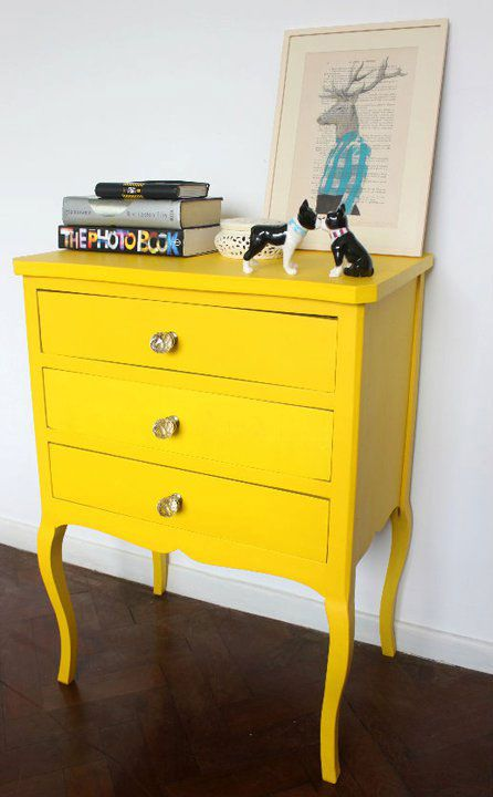 A bold colored piece of furniture can really make a statement.