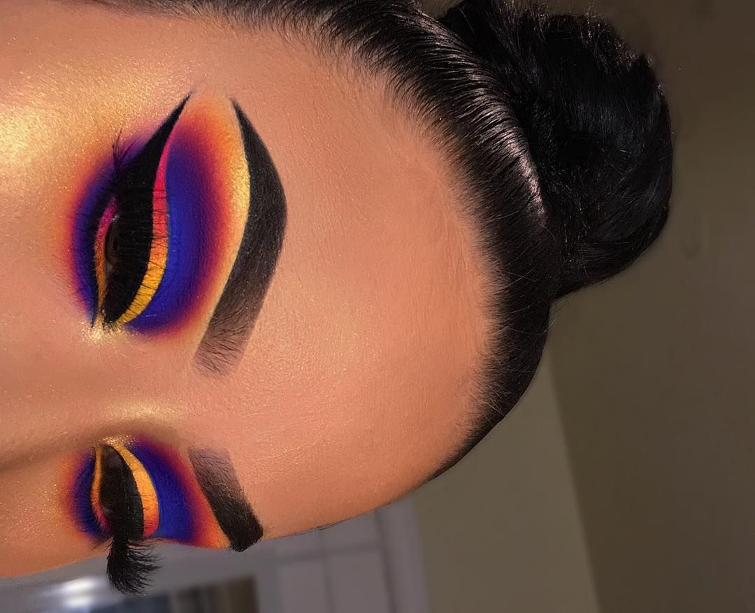 """Riquelle Medrano on Instagram: """"💙💙💜💜💗💗❤️❤️🧡🧡💛💛 ……………………………………………………….. Hey everyone!! I'm so happy with how this look turned out…"""""""