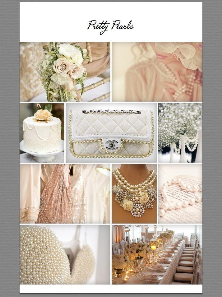 #moodboard #pearls #wedding