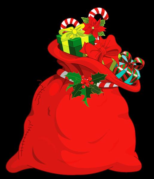 Christmas Santa Bag PNG Picture