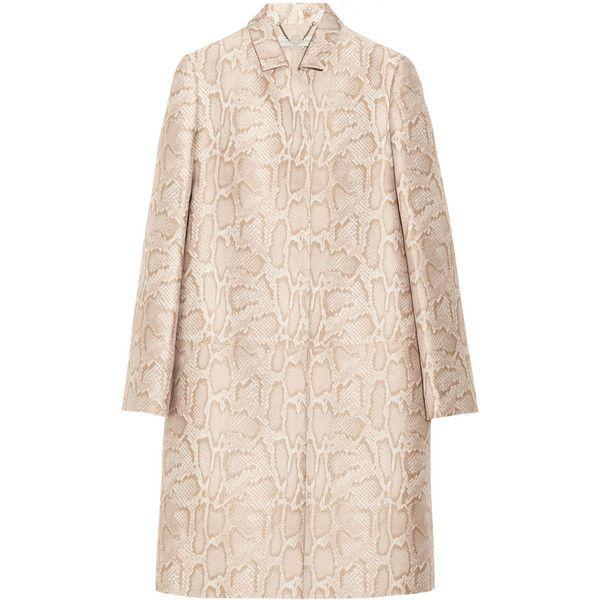 Stella McCartney Kevin python-jacquard coat found on Polyvore
