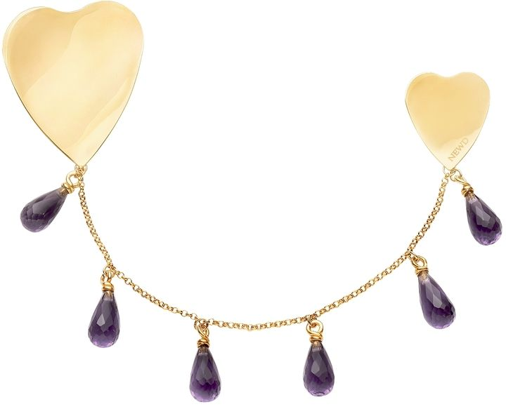 Newd Jane - Double Hearts w/Hydrothermal Stone Drops - $264.00