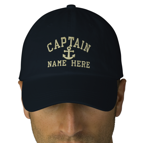 Captain - customizable with your name embroidered baseball caps