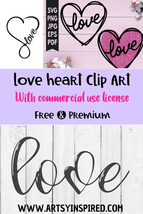 Download Free and premium love heart SVG files and clip art. Make ...
