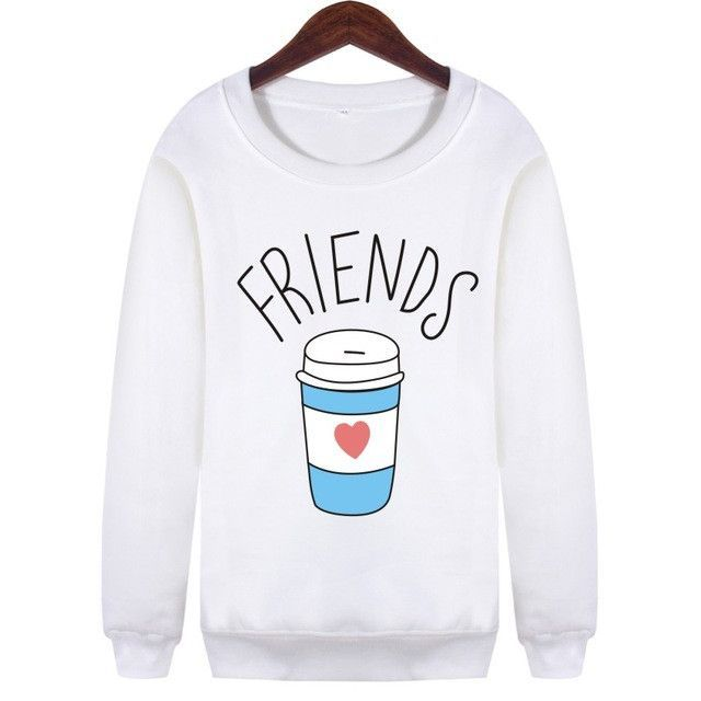 BFF Best Friends Forever Fast food mcdonalds in and out fries Sweatshirt Sweater Crewneck YOLO Fashion trendy vogue coloured block SQ12017 TQI