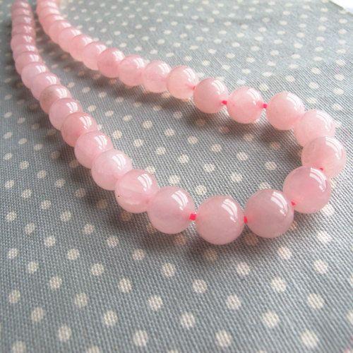 Rosa Quarz Perlen 8mm Natürliche Edelsteine Schmucksteine A Grade G768