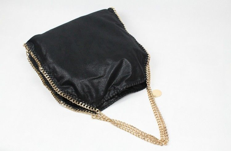 08b0e5bd72 Stellam Ccartney Falabella Shaggy Deer Big Tote with Gold Chain ...