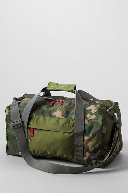 Camo Print Packable Duffel Bag From Lands End