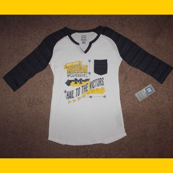 NWT Michigan 3/4 Sleeve Top 3/4 sleeves! Brand new with tags!! Tops