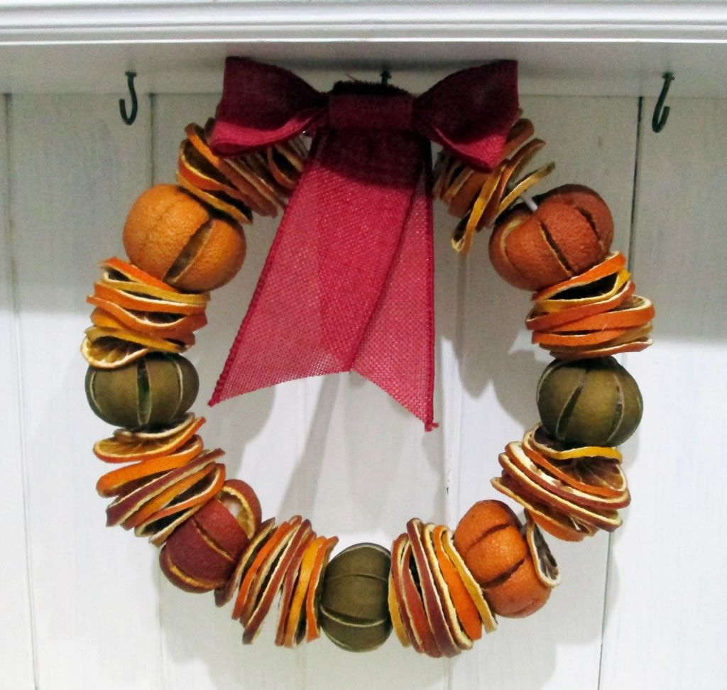 How To Make A Dried Fruit Wreath Tea And A Sewing Machine