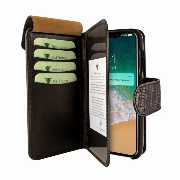 f5a1f7b008d Piel Frama 810 Brown Lizard WalletMagnum Leather Case for Apple iPhone Xs  Max - Cases.com
