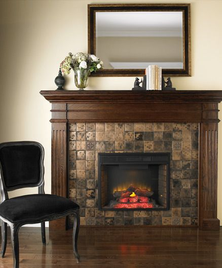 Decorative Tiles For Fireplace Wood Fireplace Surround Ideaspictures  Focal Point Fireplaces