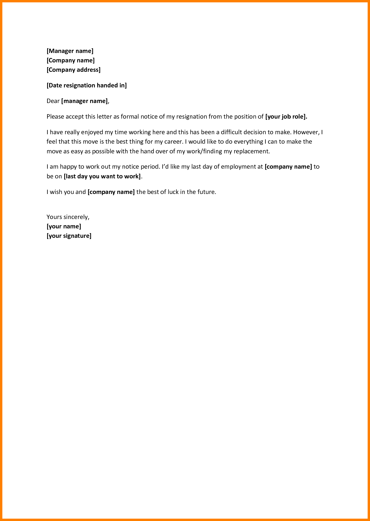 Letter Of Notice Leaving Job from i.pinimg.com
