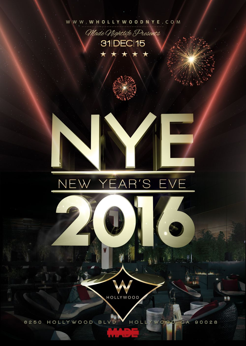 """6th Annual NYE Countdown at the W Hollywood"" W Hollywood ..."