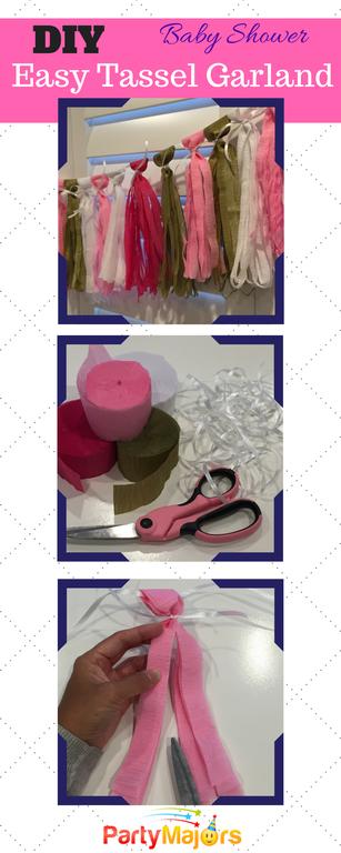Diy crepe tassel garland cumplea os decoraciones de for Diy decoracion cumpleanos