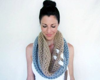INSTANT DOWNLOAD Pocket Scarf CROCHET pattern by LaineDesign