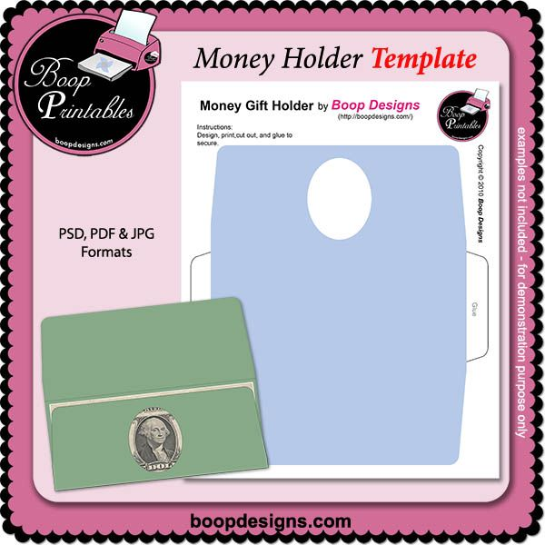 picture about Free Printable Gift Card Holder Templates named Monetary Holder TEMPLATE by means of Boop Printable Types electronic