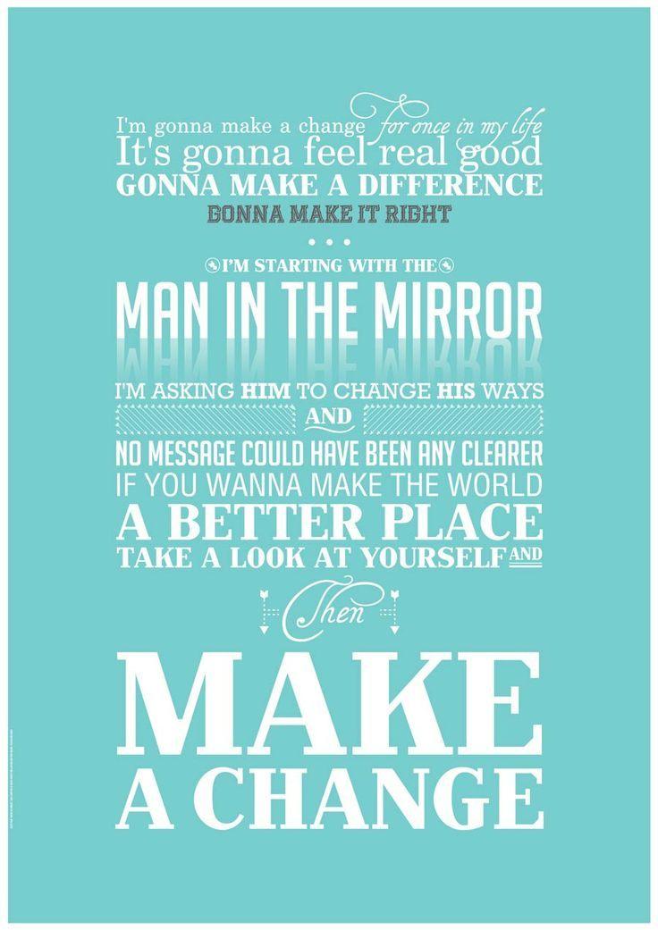Man in the Mirror - Michael Jackson   Music and Lyrics   Pinterest ...