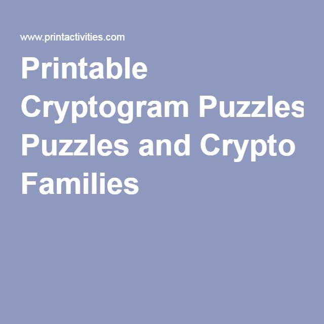 image relating to Printable Cryptogram Puzzles known as Printable Cryptogram Puzzles and Crypto People Cognitive