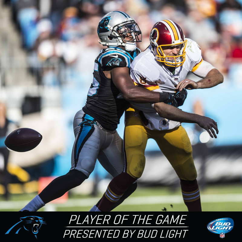 Bene Benwikere was your Bud Light Player of the Game