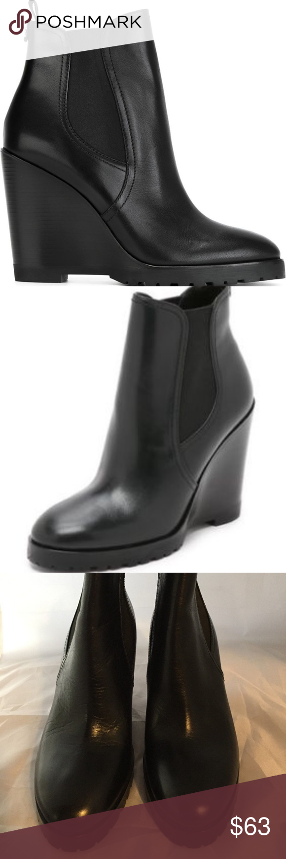cd09c1512f8 NEW MICHAEL Michael Kors Thea Wedge Boots Blk