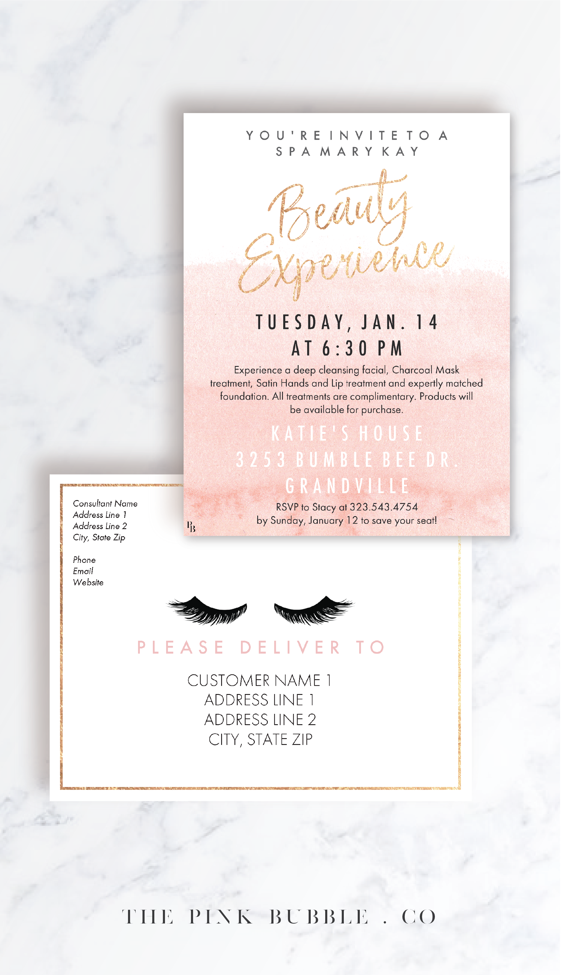 Mary Kay Beauty Experience Customizable Invitation Www