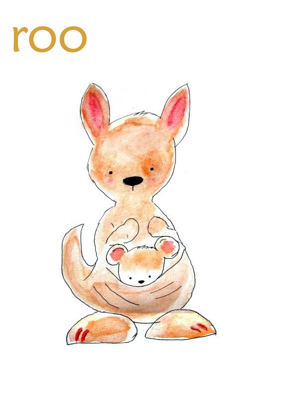 by+PinwheelKids | Kangaroo illustration, Kangaroo drawing ...