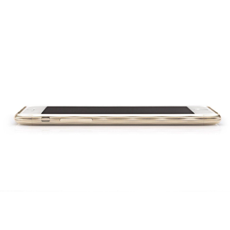 """Amazon.co.jp: SQUAIR iPhone 6 バンパー 4.7"""" 【The Dimple】 日本製 iPhone ドレスケース 超々ジュラルミンA7075を贅沢に切削で彫り出したバンパー 金属製 アルミバンパー ネジ不要 SQDMP600-GLD: 家電・カメラ"""