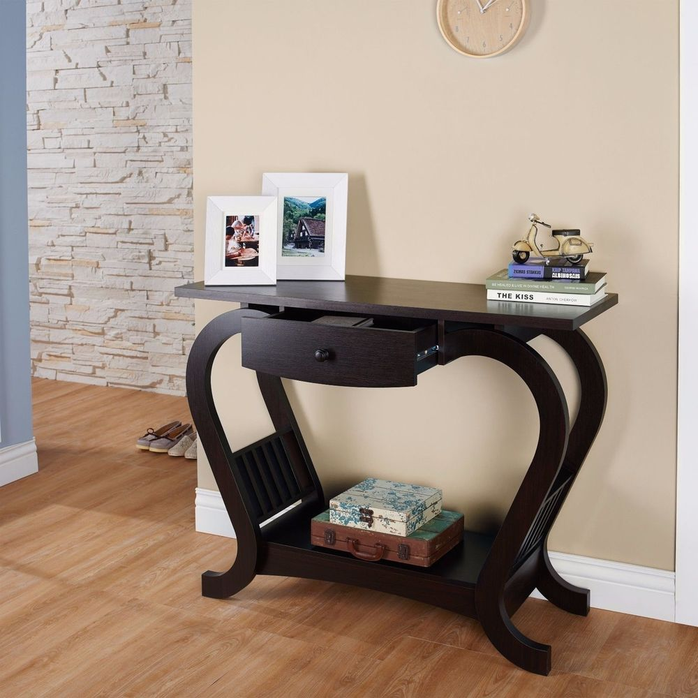 Modern hallway furniture ideas  Details about Modern Console Table Entryway Accent Stand Hallway
