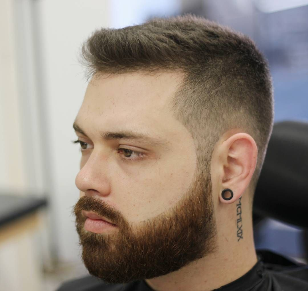 short hair with beard style