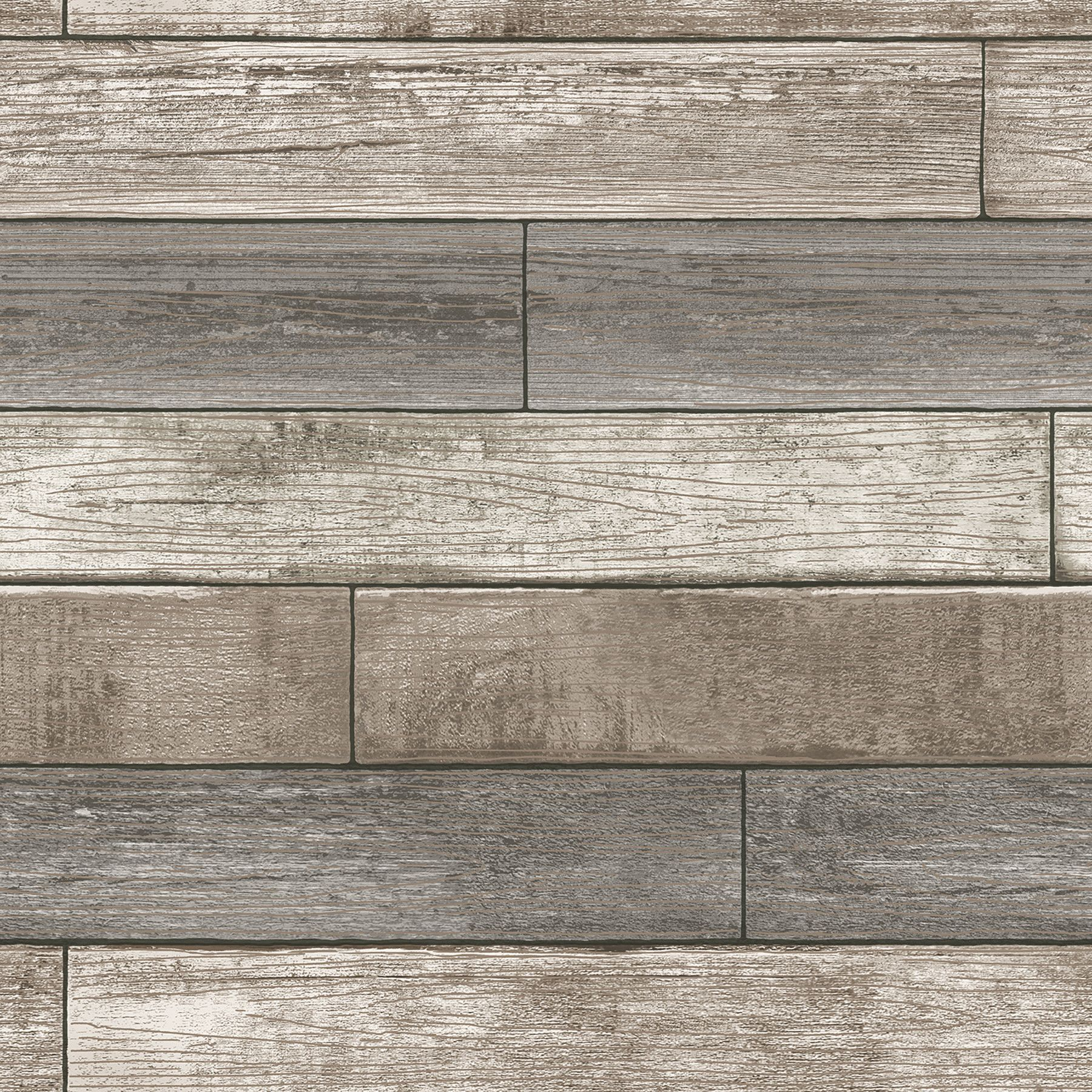 """WallPops Nu 18 x 20 5"""" Reclaimed Wood Plank Natural Peel and"""