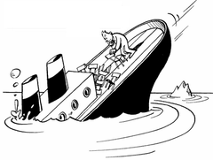 bateau qui coule dessin