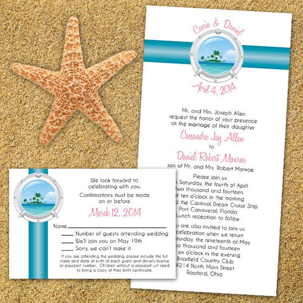 cruise wedding invitations custom tropical cruise wedding invitations custom 3201