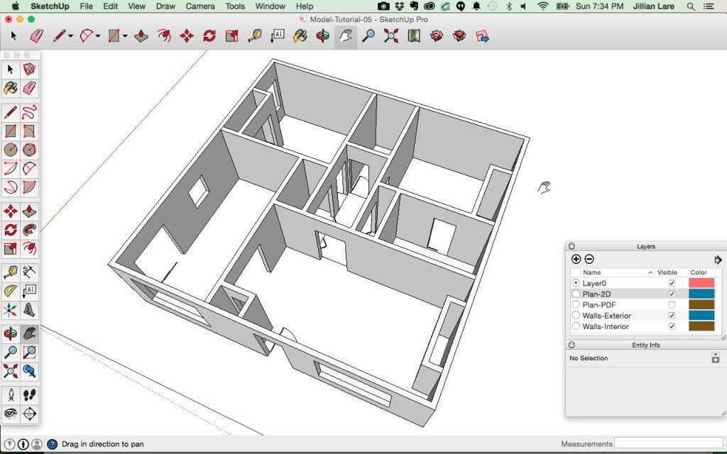 Draw A 3d House Model In Sketchup From A Floor Plan Drawing House Plans Floor Plans Floor Plan Sketch