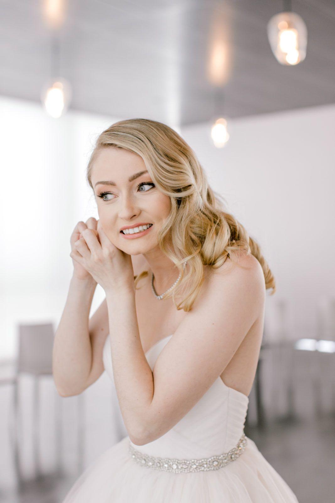 hannah & sam | bridal hair & makeup | museum wedding, kansas