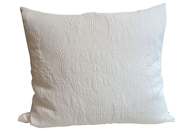 Pillow w/ 19th-C. French Marseille on OneKingsLane.com