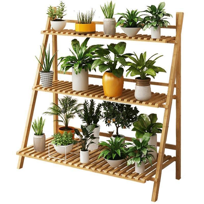 Pot Wood Plantenrekken Indoor Etagere Plante Soporte Plantas