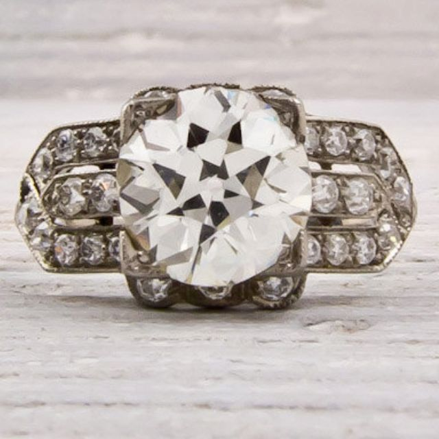 My dream wedding ring. Vintage European art deco style engagement ring. Erstwhile Jewelry